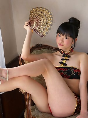 Tomoe Yamanaka Asian shows hot behind under such short skirt