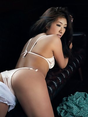 Erotic saucey asian babe is to die for in her white lingerie